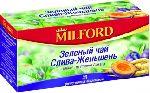 MILFORD зеленый слива-женьшень 20 пакетов