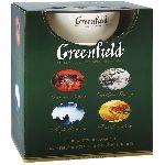 Greenfield набор подарочный ( 4 ПАЧКИ 25 пак. +чайная пара)