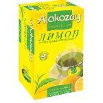 Чай Alokozay зеленый чай с лимоном  25 пакетов