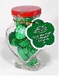 Чай LING LONG зеленый Изумрудное сердце с клубникой 90г