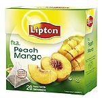 "Lipton ""Peach Mango"" пирамидки 20 пакетов"